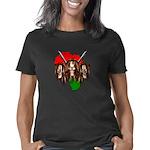 Redneck Cougar Women's Fitted T-Shirt (dark)