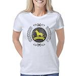 Redneck Cougar Women's V-Neck Dark T-Shirt