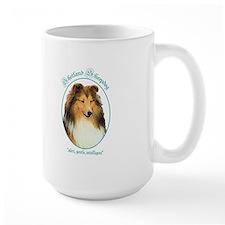 Large Mug: Shetland Sheepdog Character