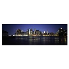 Manhattan skyline seen from Fulton Ferry, Brooklyn Poster