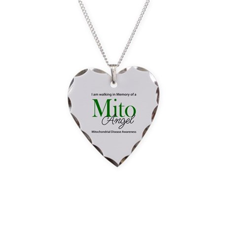 Mito Angel Necklace Heart Charm
