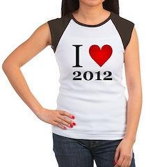 I Love 2012 Women's Cap Sleeve T-Shirt