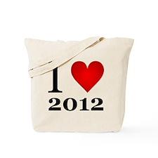 I Love 2012 Tote Bag