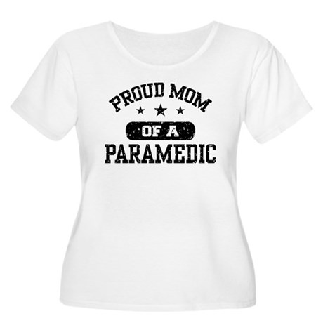 Proud Mom of a Paramedic Women's Plus Size Scoop N