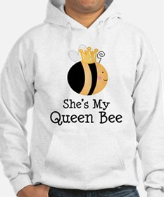 She's My Queen Bee Couples Hoodie