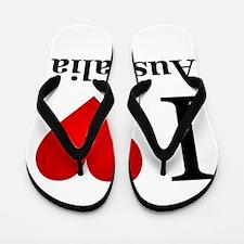 I Love Australia Flip Flops