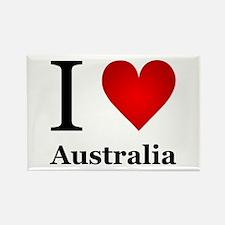 I Love Australia Rectangle Magnet