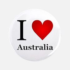 """I Love Australia 3.5"""" Button (100 pack)"""