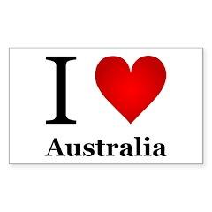 I Love Australia Decal