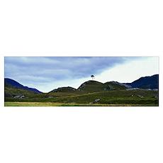 Mountain landscape, Glen Strathfarrar, Highland, S Poster