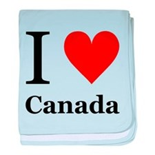 I Love Canada baby blanket