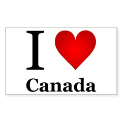 I Love Canada Sticker (Rectangle)