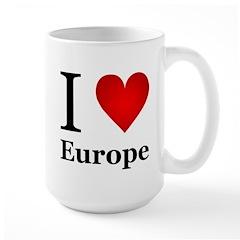 I Love Europe Mug