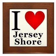 I Love Jersey Shore Framed Tile