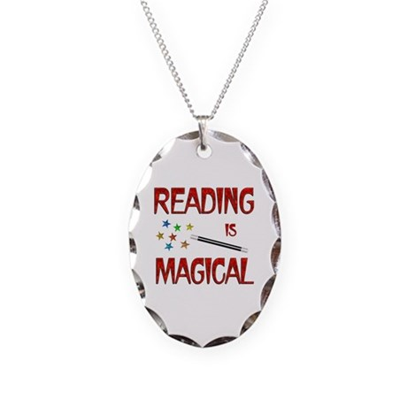 Reading is Magical Necklace Oval Charm