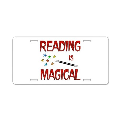 Reading is Magical Aluminum License Plate