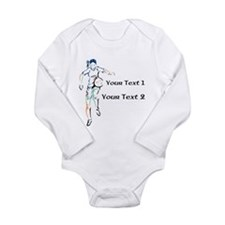 Womens Soccer. Custom Text Long Sleeve Infant Body