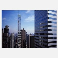 Skyscrapers in a city, New York City, New York