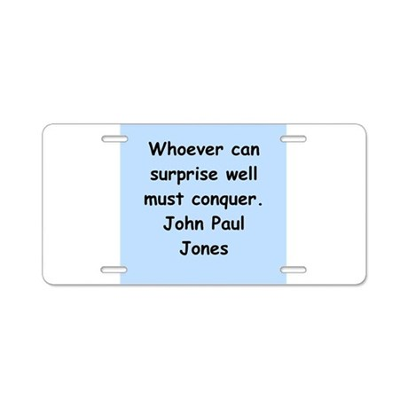 john paul jones Aluminum License Plate