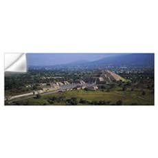 Pyramid on a landscape, Moon Pyramid, Teotihuacan, Wall Decal