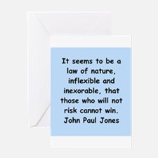 john paul jones Greeting Card