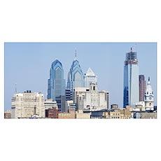 Skyscrapers in a city, Philadelphia, Philadelphia  Poster