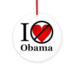 Anti Obama Ornament (Round)