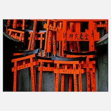 Torii gates of a shrine, Fushimi Inari-Taisha, Fus