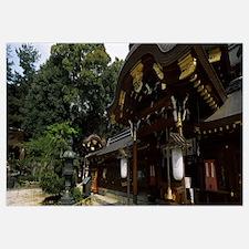 Facade of a temple, Imamiya Temple, Kyoto, Kyoto P