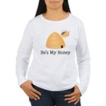 He's My Honey Couples Women's Long Sleeve T-Shirt