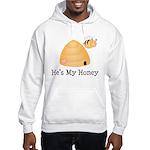 He's My Honey Couples Hooded Sweatshirt