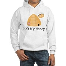 He's My Honey Couples Hooded Sweatshirt