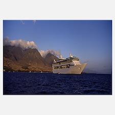 Cruise ship in the sea, Lahaina, Maui, Hawaii
