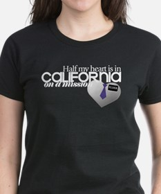Half my heart is in Cali Dark T-Shirt