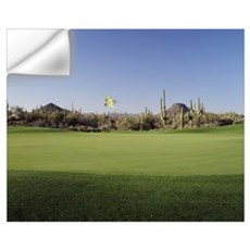 Golf flag in a golf course, Troon North Golf Club, Wall Decal