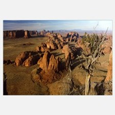 Rock formations on a landscape, Monument Valley, A