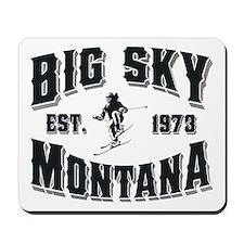 Big Sky Skier Mousepad