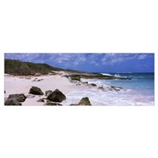 Rocks on the beach, Island Harbour, Anguilla Poster