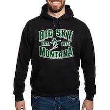 Big Sky Skier Green Hoodie