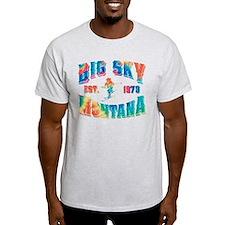 Big Sky Skier Tie Dye T-Shirt