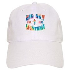 Big Sky Skier Tie Dye Baseball Cap