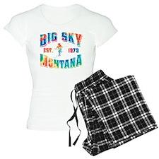 Big Sky Skier Tie Dye Pajamas