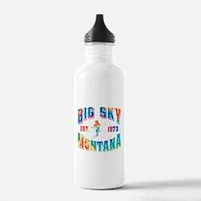 Big Sky Skier Tie Dye Water Bottle
