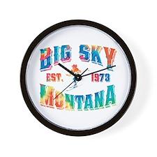 Big Sky Skier Tie Dye Wall Clock