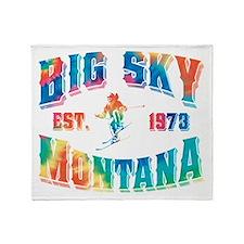 Big Sky Skier Tie Dye Throw Blanket