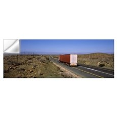 Truck on a highway, N1 Highway, The Karoo, Western Wall Decal