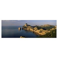 Island in the sea, Cap De Formentor, Majorca, Bale Poster