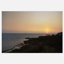 Sunset over a lake, Lake Victoria, Great Rift Vall