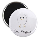 Little Egg- Go Vegan Magnet