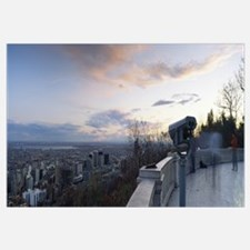 City viewed from an observation point, Mt Royal, K